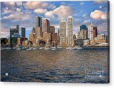 Boston Skyline  Acrylic Print by Tamyra Ayles