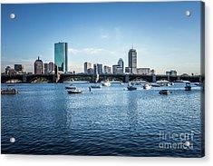 Boston Skyline With The Longfellow Bridge Acrylic Print