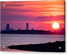 Boston Skyline Worlds End Acrylic Print