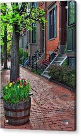 Boston South End Row Houses Acrylic Print by Joann Vitali