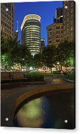 Acrylic Print featuring the photograph Boston Statler Park  by Juergen Roth