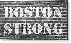 Boston Strong Acrylic Print by Edward Fielding