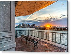 Boston Sunset From Piers Park East Boston Ma Acrylic Print