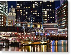 Boston Tea Party Acrylic Print by Frozen in Time Fine Art Photography