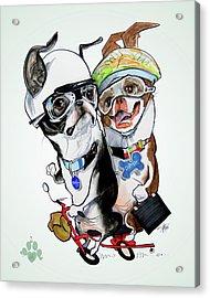 Boston Terriers - Dumb And Dumber Acrylic Print