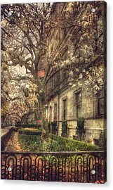 Boston Vintage Row Houses - Back Bay Acrylic Print by Joann Vitali