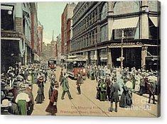 Boston: Washington Street Acrylic Print by Granger