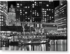 Acrylic Print featuring the photograph Bostonian Black And White by Frozen in Time Fine Art Photography