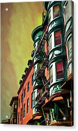 Boston's Famous North Square Acrylic Print