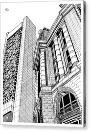 Boston's South Station Acrylic Print by Conor Plunkett