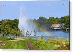 Botanic Rainbow Acrylic Print