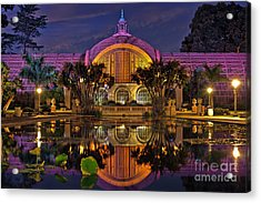 Botanical Building At Night In Balboa Park Acrylic Print