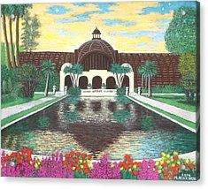 Botanical Building In Balboa Park 01 Acrylic Print