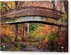 Botanical Gardens Arched Bridge Asheville During Fall Acrylic Print