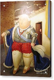 Botero Royal Man Acrylic Print by Ted Pollard