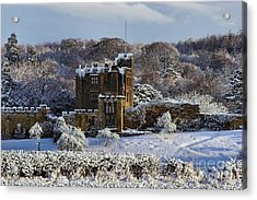 Bothal Castle In Winter Acrylic Print