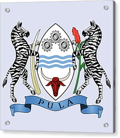 Acrylic Print featuring the drawing Botswana Coat Of Arms by Movie Poster Prints