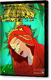 Botticelli Madonna Abstract Background Acrylic Print