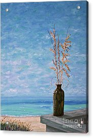 Bottle And Sea Oats Acrylic Print