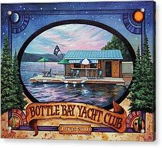 Bottle Bay Yacht Club Acrylic Print