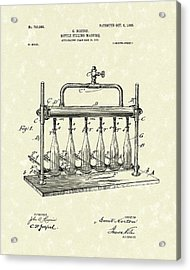 Bottle Filling Machine 1903 Patent Art Acrylic Print by Prior Art Design