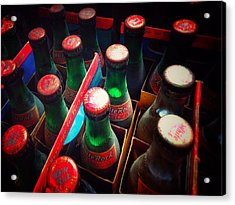 Acrylic Print featuring the photograph Bottle Necks by Olivier Calas