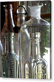 Bottle Necks Acrylic Print by Richard Mansfield