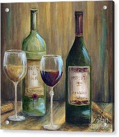 Bottle Of Red Bottle Of White   Acrylic Print by Marilyn Dunlap