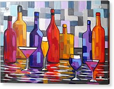 Bottle Of Wine Acrylic Print