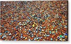 Bottlecap Alley Acrylic Print by David Morefield
