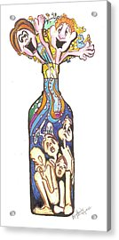 Bottled Emotions Acrylic Print by Remy Francis
