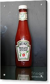 Bottled Ketchup - 5d18039 Acrylic Print by Wingsdomain Art and Photography
