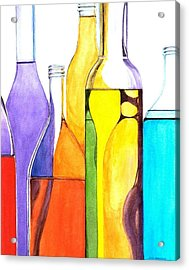Bottled Rainbow 1 Acrylic Print by Jun Jamosmos