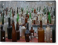 Bottles Acrylic Print by Dennis Curry