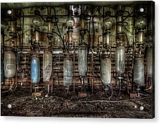 Acrylic Print featuring the digital art Bottles Hanging On The Wall  by Nathan Wright