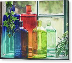 Bottles In The Window Acrylic Print