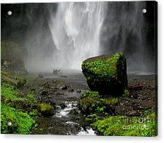 Bottom Of Wakeena Falls Acrylic Print by PJ  Cloud