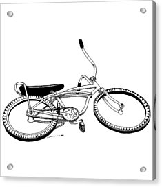 Bottom Up Bike Acrylic Print by Karl Addison