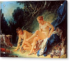 Boucher: Diana Bathing Acrylic Print