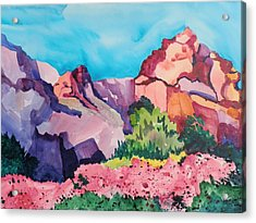 Bougainvillea In The Mountains Acrylic Print