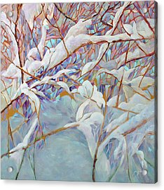 Acrylic Print featuring the painting Boughs In Winter by Joanne Smoley