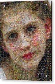 Bouguereau - Avant Le Bain Acrylic Print by Gilberto Viciedo