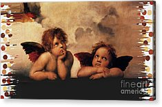 Acrylic Print featuring the painting Bouguereau Painting Fresh Paint  by Catherine Lott