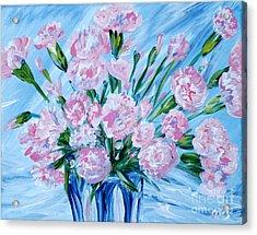 Bouguet Of Carnations.  Joyful Gift. Thank You Collection Acrylic Print