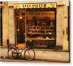 Boulangerie And Bike Acrylic Print