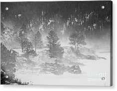 Boulder Canyon And Nederland Winter Landscape Acrylic Print by James BO  Insogna