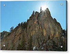 Acrylic Print featuring the photograph Boulder Canyon Narrows Pinnacle by James BO Insogna