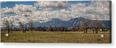 Acrylic Print featuring the photograph Boulder Colorado Front Range Panorama View by James BO Insogna