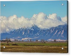 Acrylic Print featuring the photograph Boulder Colorado Front Range Cloud Pile On by James BO Insogna