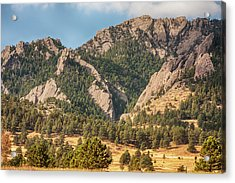 Acrylic Print featuring the photograph Boulder Colorado Rocky Mountain Foothills by James BO Insogna